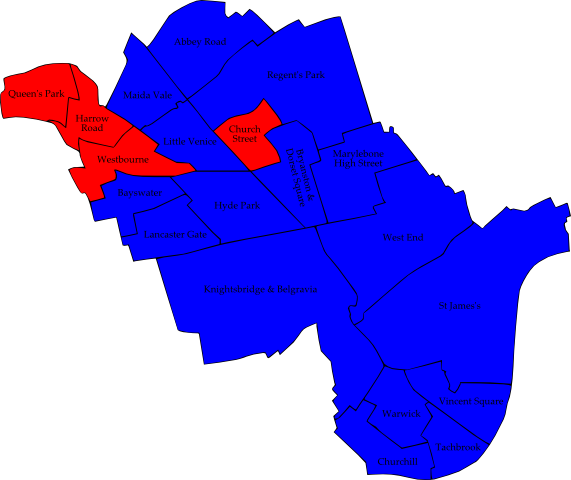 Map: Local Elections 2010 - Westminster