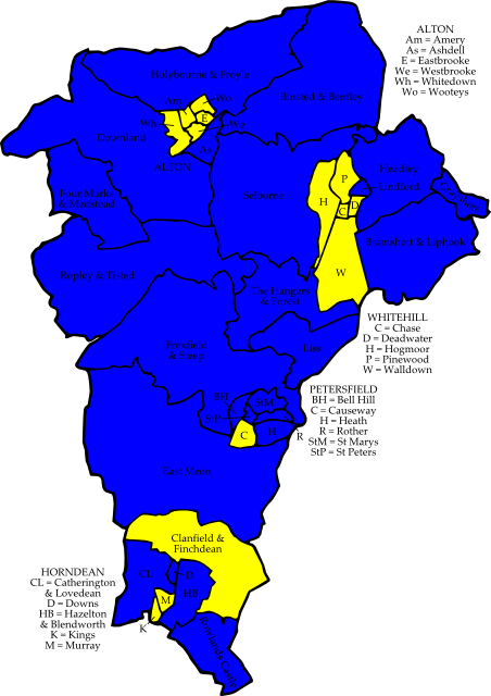 Map: Local Elections 2007 - East Hampshire