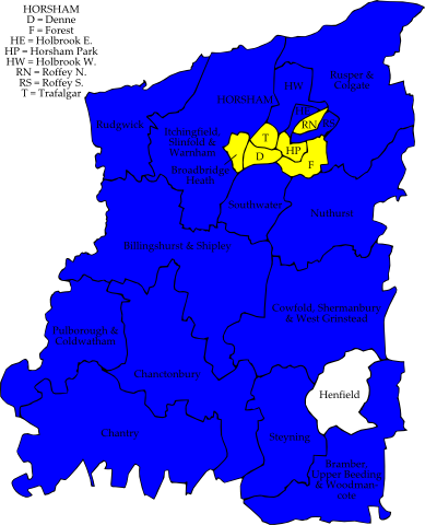 Map: Local Elections 2007 - Horsham